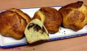 Brioche marbrée Nutella et noix