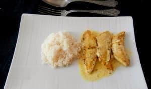 Poulet mariné curry, épices, coco