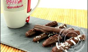 Fingers maison – bâtonnets sablés au chocolat