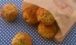 Muffins aux asperges vertes et au Cantal