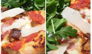 Pizza aux cèpes et parmesan