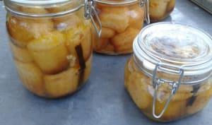 Petits Babas rhum~agrumes en bocal