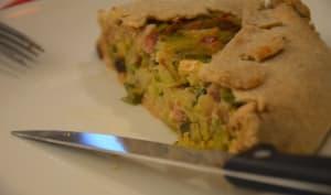 Petite tarte rustique aux poireaux et à la farine de seigle