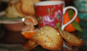 Tuiles à la fleur d'oranger et aux zestes de mandarine