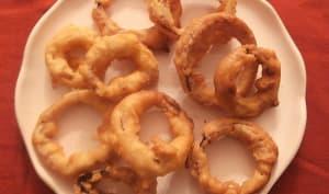 Onion rings ou beignets d'oignons
