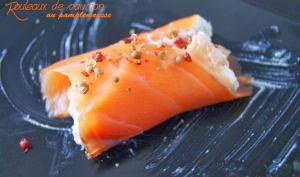 Rouleaux de saumon au pamplemousse