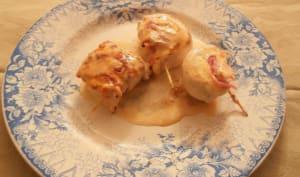 Petits roulés de poulet au jambon et au fromage