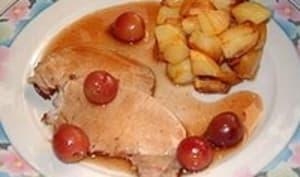 Rôti de porc aux cerises