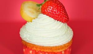 Cupcake fraise-banane