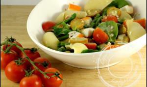 Salade de conchiglie et surimi