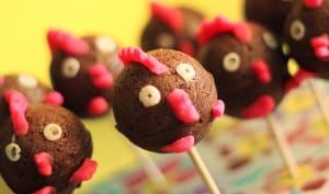Sucettes au chocolat pour Pâques