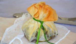 Aumônières croustillantes aux légumes et fromage fondants