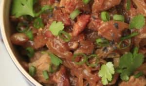 Filet mignon de porc caramélisé à l'Inca Kola