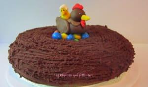 Rainbow cake de Pâques