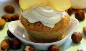 Muffins pommes, noisettes, amandes