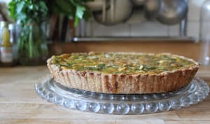 Tarte spécial récup : fanes et soupe de carotte