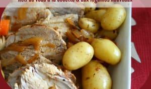 Rôti de veau en cocotte aux légumes nouveaux