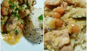 Poulet Moughlaî et son riz moucheté.