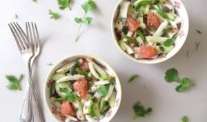 Salade de fenouil au pamplemousse et marinade de légumes aux graines