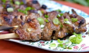 Brochettes de filet de porc