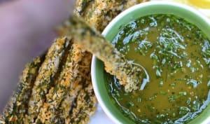 Asperges croustillantes et leur sauce miel et moutarde