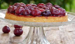 Tarte aux cerises et pistache