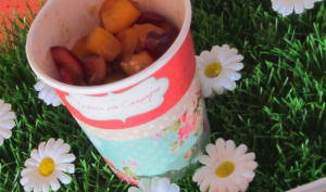 Salade de fruits abricots cerises