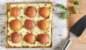 Tarte cheese-cake aux abricots