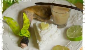 Pintade à la vanille, au gingembre, au miel et au citron vert
