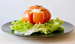 Tomate farcie à la mozzarella marinée
