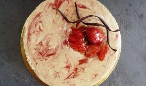 Cheesecake dulce de leche et coulis de fraise
