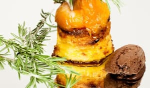 """Abricots rôtis et cake """"perdu"""""""