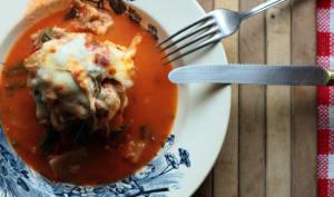 Gratin de côtes de bettes à la tomate et polenta