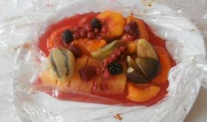 Salade de fruits cuite en papillote au miel