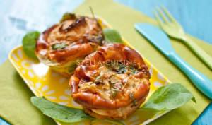 Mini quiches sans pâte, poireaux et épinards