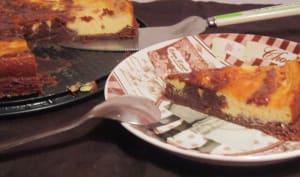 Fusion-acquisition entre un brownie et un cheesecake