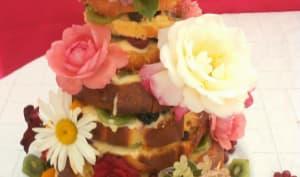 Birthday cake lemon curd and fruits