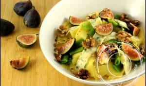 Salade de pappardelles aux figues bleu et noix