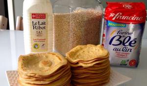 Crêpes au lait Ribot et flocons d'avoine