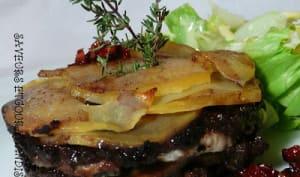 Charlotte de sardine aux pommes de terre et à la tapenade