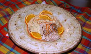 Dos de cabillaud et son risotto de topinambours à l'orange