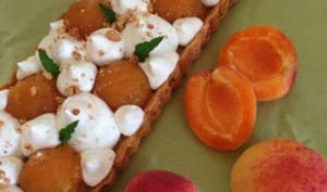 Tarte abricot pistache vanille