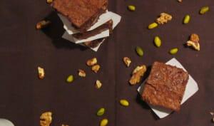 Brownies aux noix et pistaches
