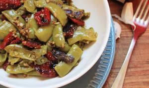 Haricots plats aux tomates séchées