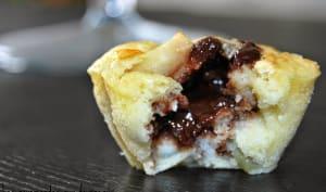Muffins aux poires, coeur de chocolat