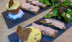 Oeufs brouillés à la truffe de Aups et ses mouillettes de foie gras