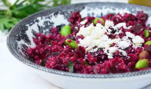 Salade de quinoa, betteraves et édamames