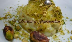 Crème libanaise aux pistaches