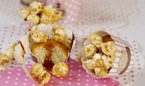 Muffins pop corn et caramel