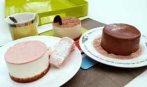 Bavarois poires sur Crumble biscuits rose de Reims